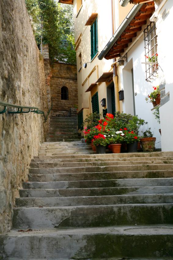 Italian Stairway in Fiesole