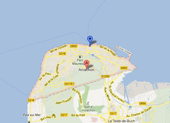 A Map of Arcachon - Oliver's Travels