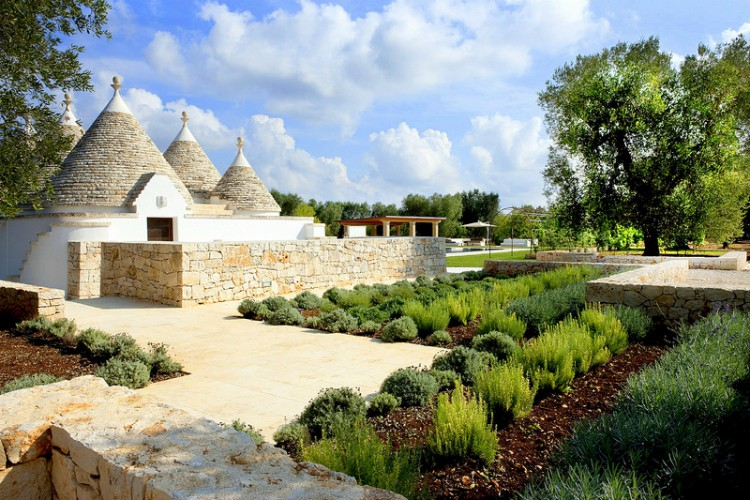 Garden and Dome of Villa Trullo