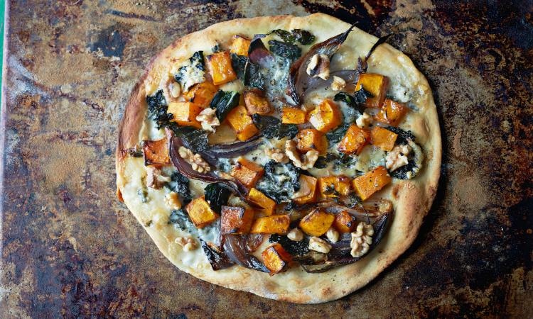 butternut cavolo nero pizza - gino d'acampo