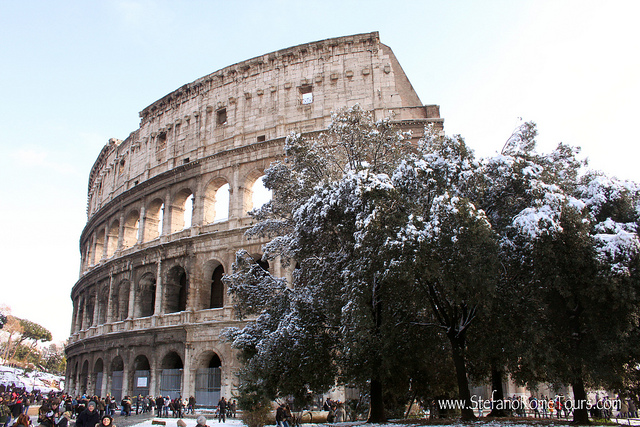 The Coliseum in Winter - Oliver's Travels (Image courtesy of Stefano Constantini via Flickr)