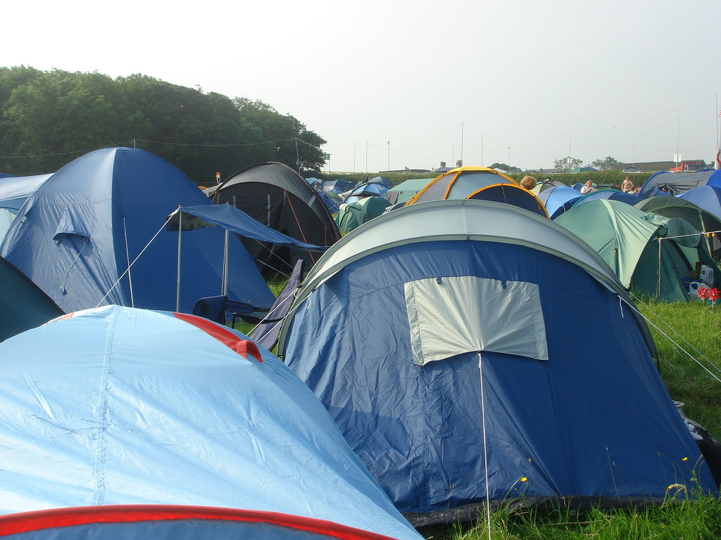The Grim Side of Festival Living - Oliver's Travels (Photo cpourtesy of Chrissy Polcino on Flickr)