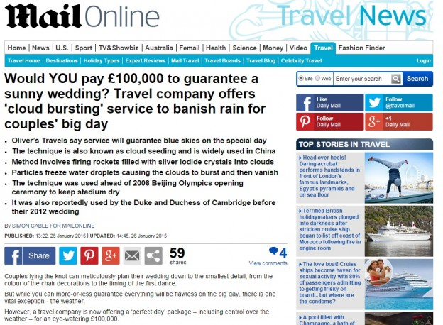 Mail Online coverage - Luxury Villas and Wedding Venues to Rent