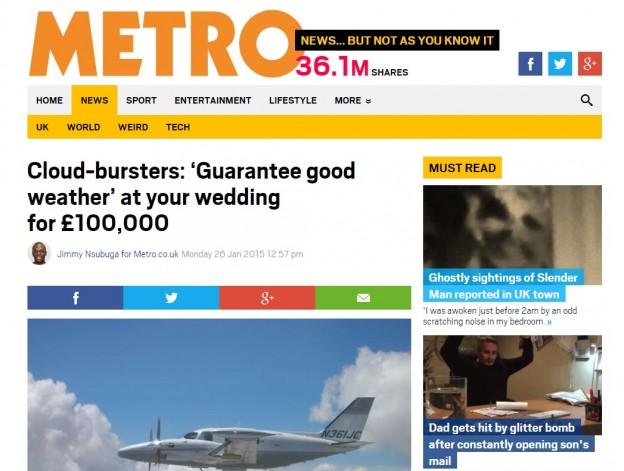 The Metro - Cloud bursting Coverage - Unique Destination wedding venues - Oliver's Travels