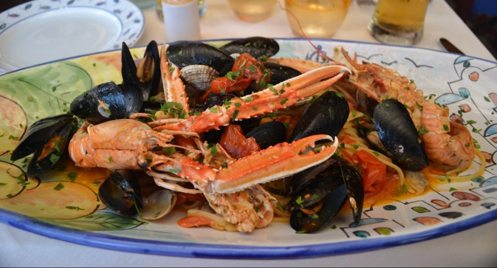 Delicious Seafood Pasta, Italy