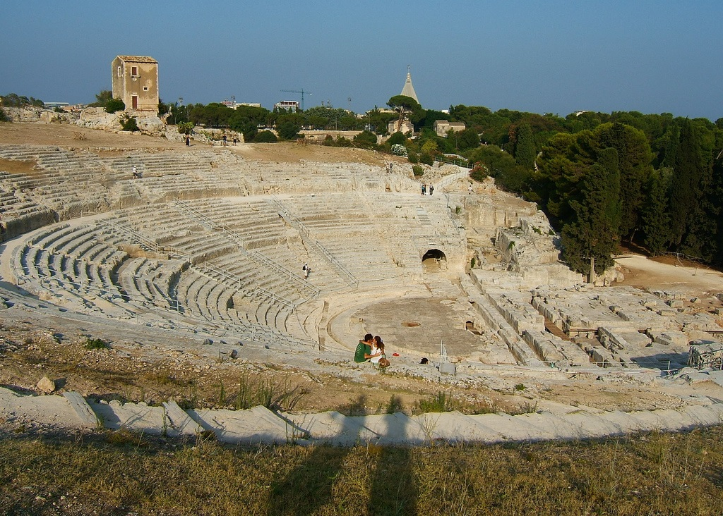 The Greek Theatre in Syracuse, Sicily