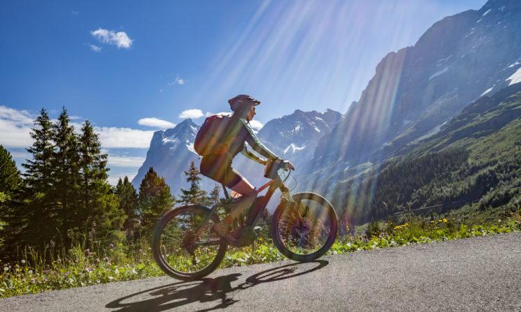 mountain biking the alps summer
