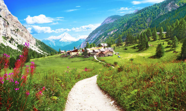 alpine summer holidays - mountain village