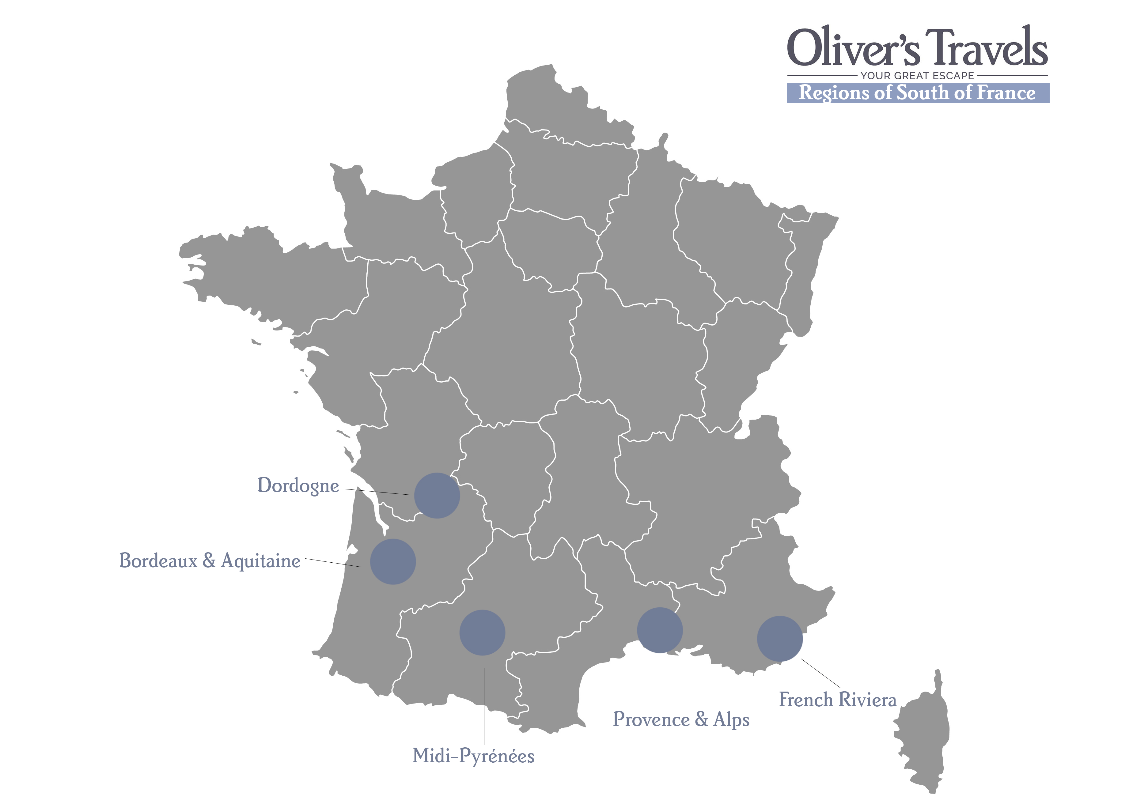 Map South Of France.Travel Guide To The South Of France Oliver S Travels