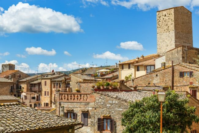 old town in San Gimignano italy