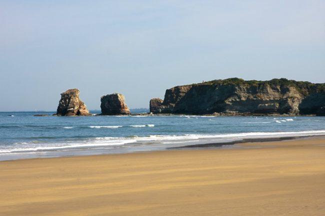 Grande Plage beach Hendaye south france