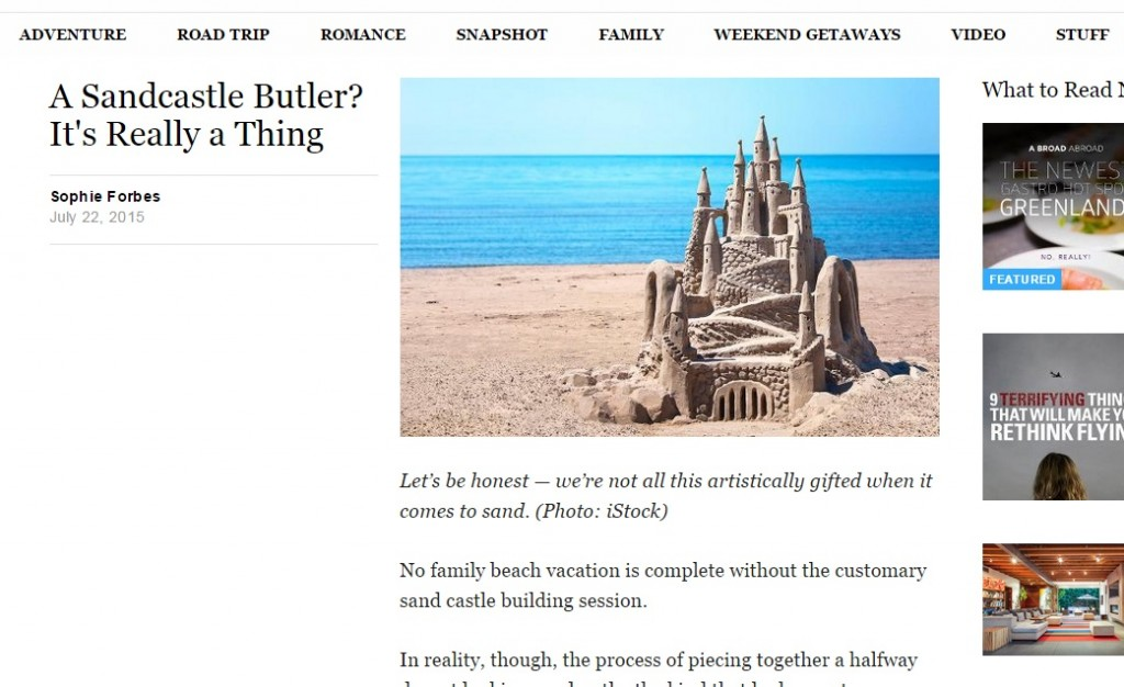 Yahoo Sandcaste Butler coverage - luxury villas in the South of France