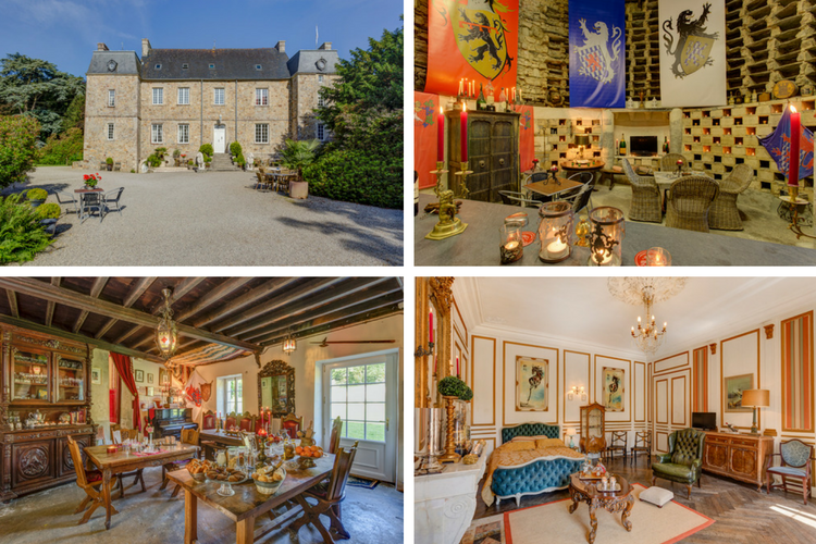 C16th Normandy Chateau - Normandy - Oliver's Travels - collage