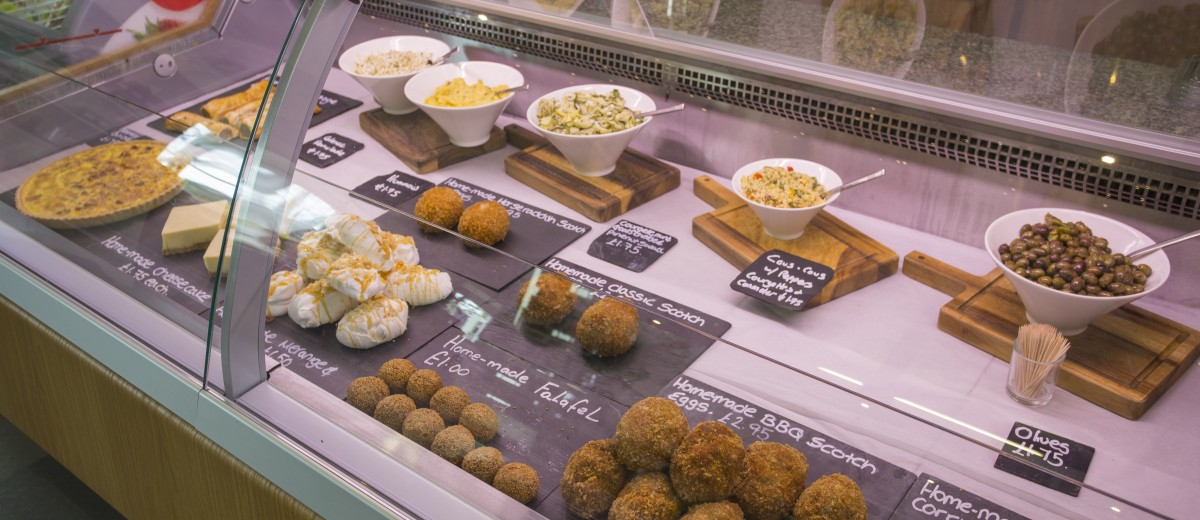Shop selling Scotch' eggs