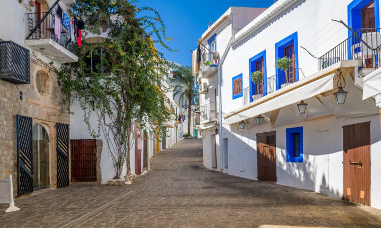 ibiza old town streets