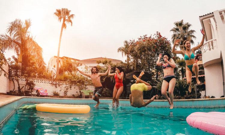 group in pool
