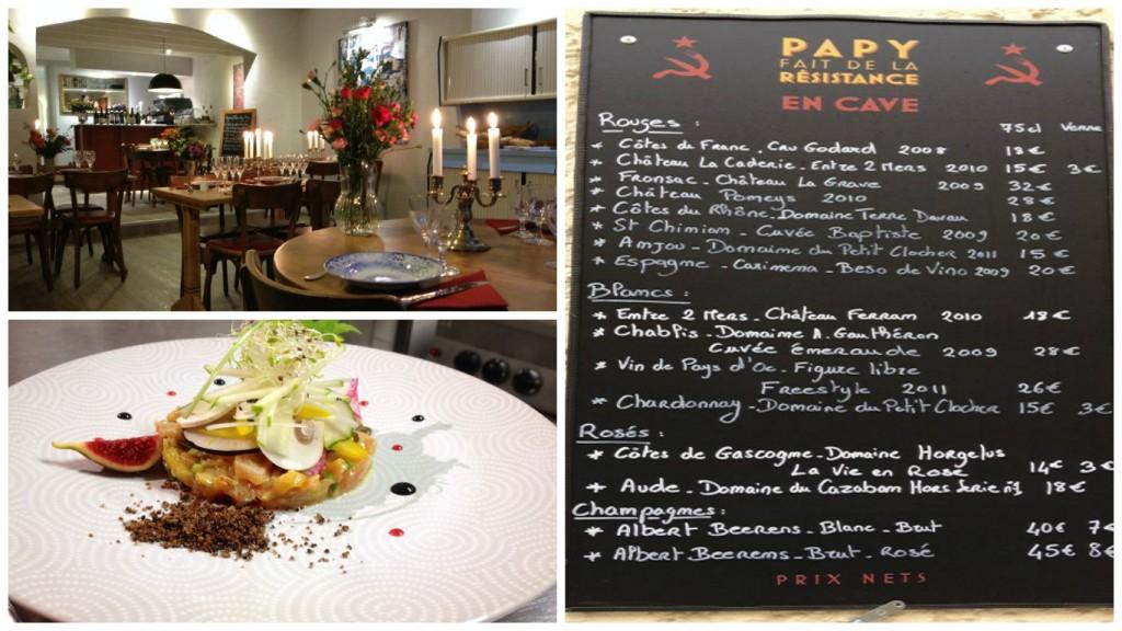 French restaurant - Aquitaine - Papy fait de la résistance