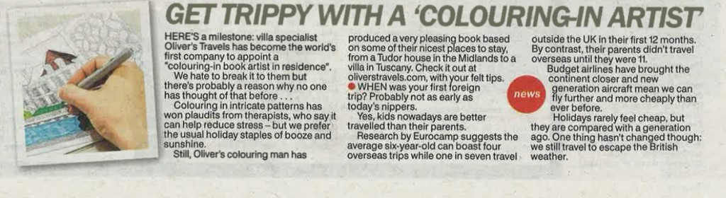 The Sun gets snarky - luxury villas to rent - Oliver's Travels