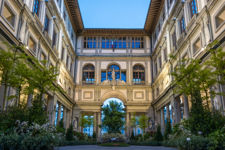 best group activities in Tuscany | Florence, Italy - April 25, 2016. Uffizi gallery in Florence, Italy. It is one of the oldest and most famous art museums of Europe.