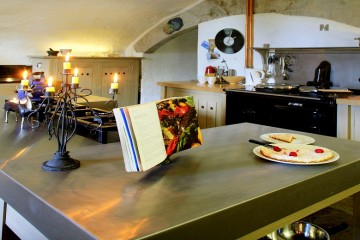 Sue and Dave Prickett favourite room at Durhamstown Castle in Navan, Co. Meath. Kitchen.Photo: Tony Gavin 17/8/11