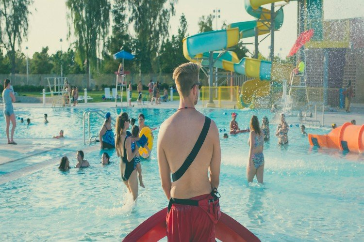 Lifeguard at waterpark
