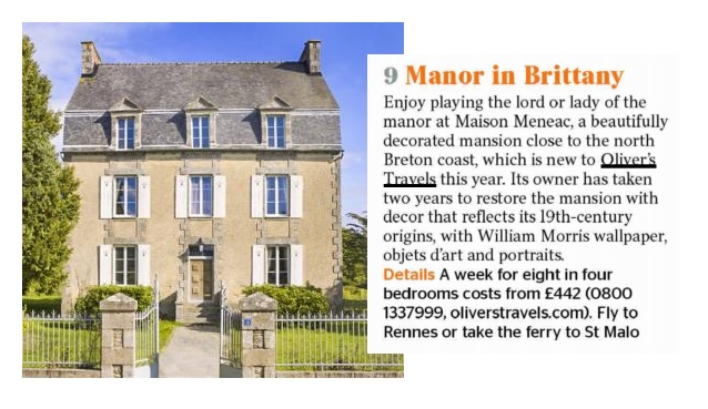 Manoir Meneac - Villas in Brittany - Oliver's Travels