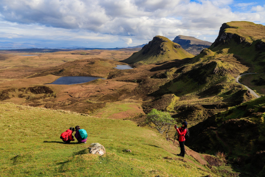 This image shows happy family enjoying the Quiraings stunning view.
