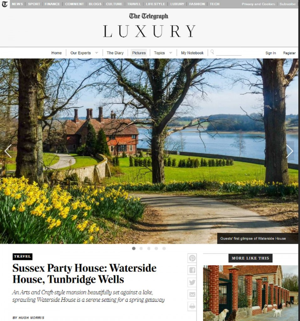 Telegraph - Waterside House - Oliver's Travels
