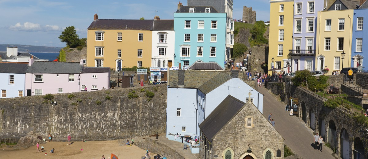 Wales, Tenby, People, Tourist Resort, Town iStock