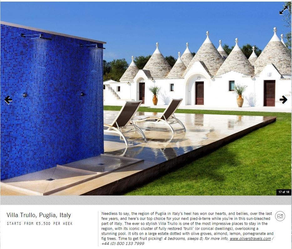 Square Mile - Villa Trullo - Oliver's Travels