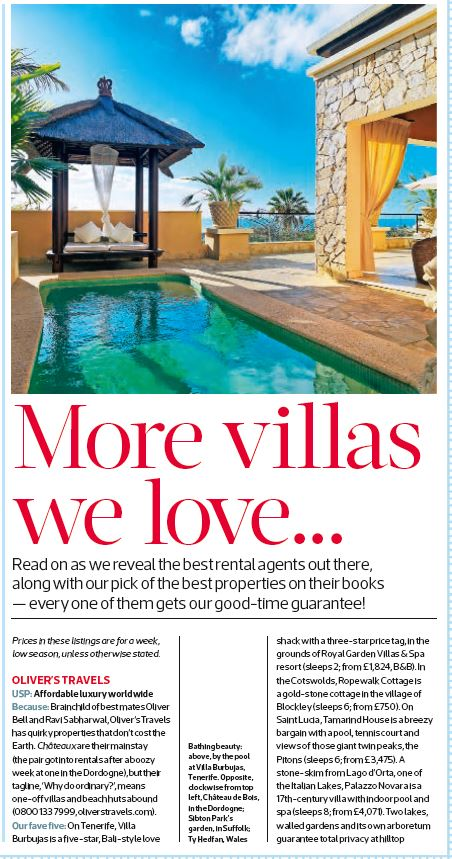 Sunday Times -Oliver's Travels