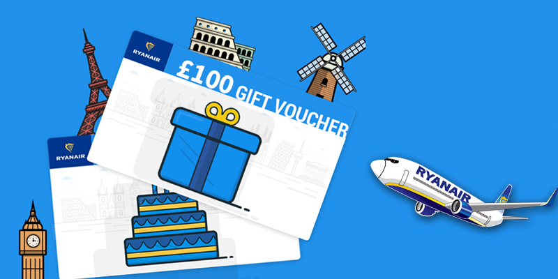 Win Ryanair gift vouchers worth £100 with Oliver's Travels