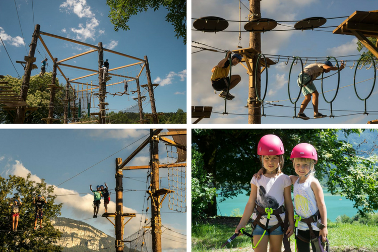 Tackle the high ropes at Accro'Lac Aiguebelette - Rhone-Alpes, France