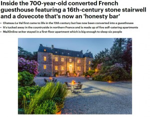 Daily Mail - C16th Normandy Castle - Oliver's Travels
