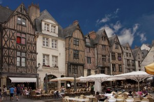 The medieval square in Tours