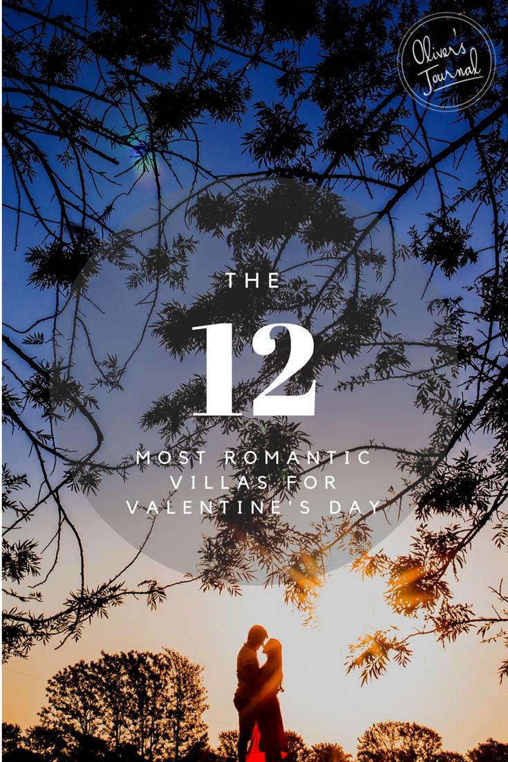 The 12 most romantic villas for valentine's day