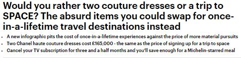 Mail Online - Luxury Bucket List