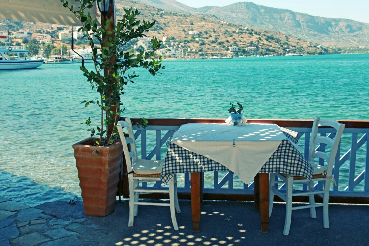 Outdoor resturant in Crete