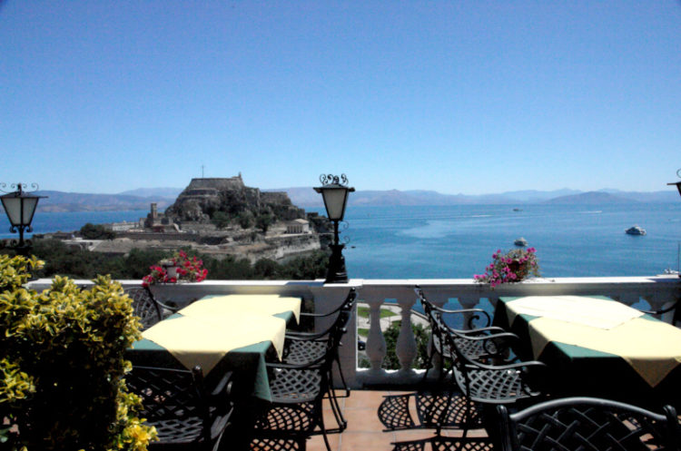 Cavalieri Hotel Rooftop Bar and Restaurant - View out to Sea