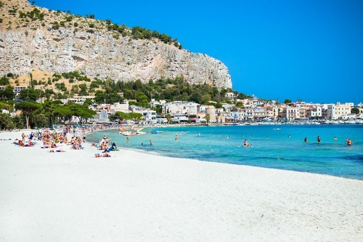 Mondello Sicily Beaches In Southern Italy