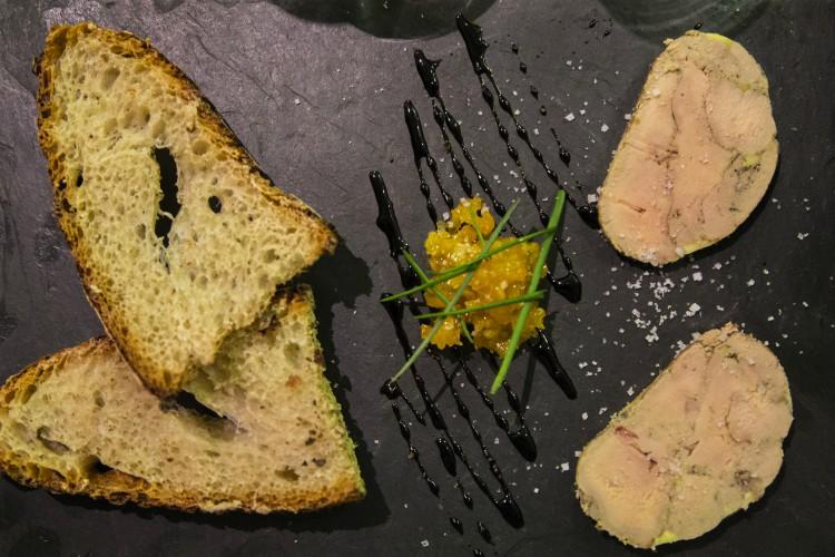 Foie gras et confis de gingembre