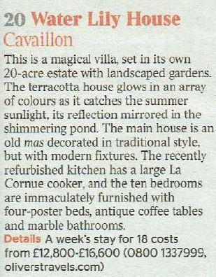 The Times - Water Lily House - Oliver's Travels