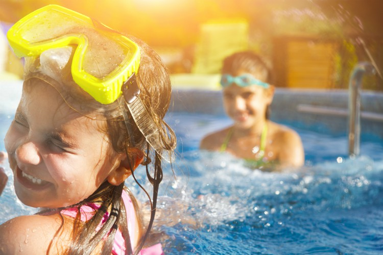 One half term hacks is to take the kids to the pool, where they can have fun for hours