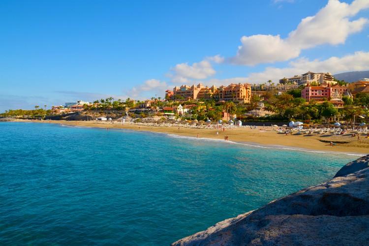 View of El Duque beach in Costa Adeje, Tenerife