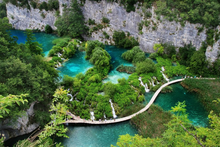 Waterfalls in Plitvice Lakes, Croatia