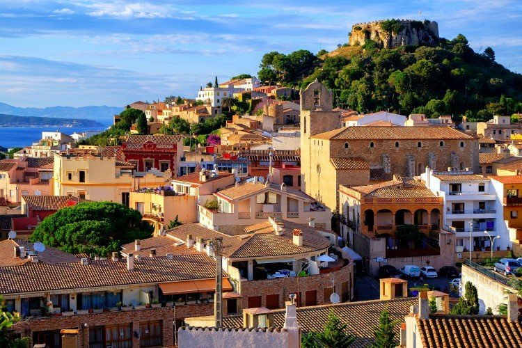 Begur town in Catalonia, Spain, is a popular resort destination on Mediterranean Sea towns and villages in Costa Brava