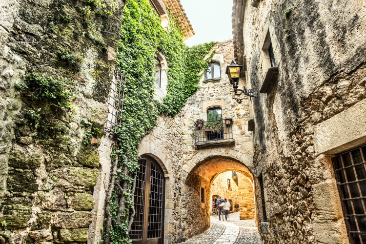 Picturesque medieval village of Pals, Costa Brava.