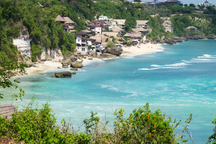 Beautiful hidden Bingin Beach is one of the best beaches in Bali