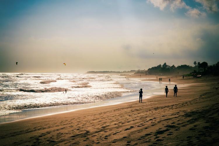 Bali Canggu beach view at morning sunrise