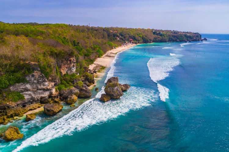 Aerial view of Padang - Padang beach